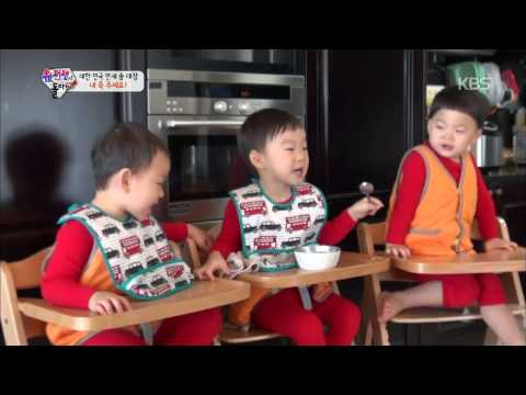 [HIT] 슈퍼맨이 돌아왔다-장남 대한이의 '동생사랑', 음식도 나눠 먹어요!.20150111