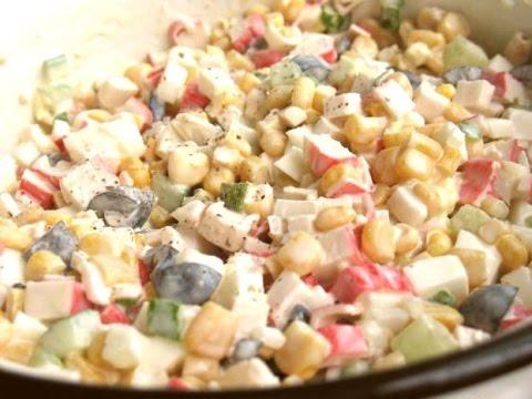 Вкуснейший салат из крабовых палочек!Imitation crabmeat salad
