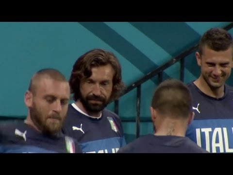 World Cup 2014 - Italy Training - Andrea Pirlo Leads Nutmegging Of Aquilani