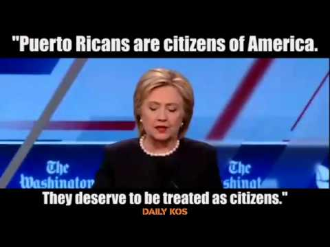 Hillary Clinton talks about helping Puerto Rico