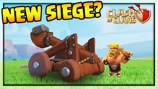 NEW SIEGE MACHINE: CATAPULT! Clash of Clans Town Hall 12 Update Concepts!