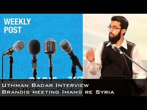 Brandis meeting imams re Syria | Uthman Badar interview (ABC News Radio)