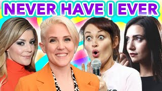 "Safiya Nygaard, Grace Helbig, Hannah Hart, and Mamrie Hart play ""Never Have I Ever"""