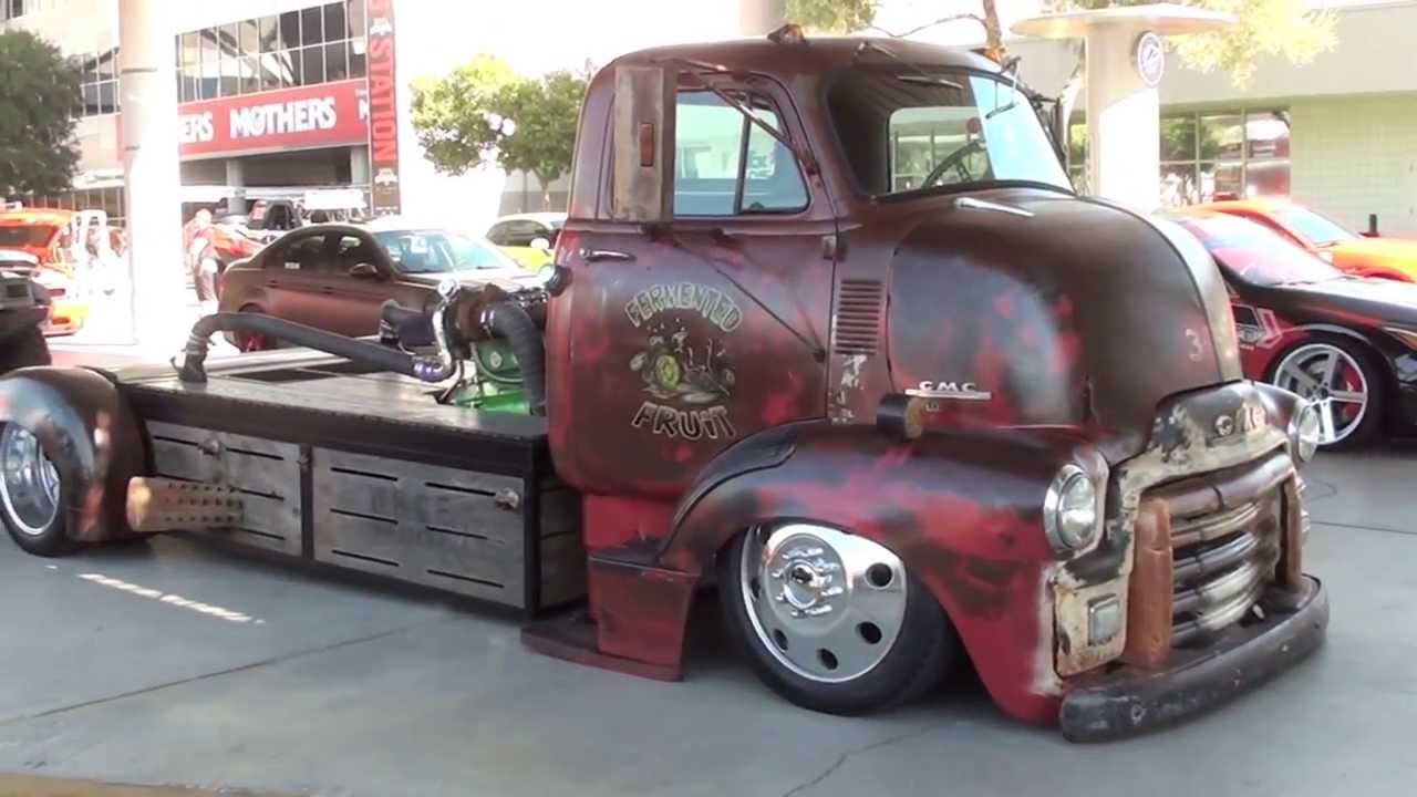 "Big Chevrolet Trucks >> SEMA 2013: Rat Rod ""mid engine"" turbo diesel truck - YouTube"