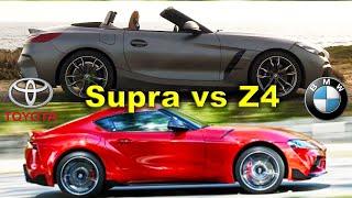 Toyota Supra vs BMW Z4   /Z4 vs Supra/