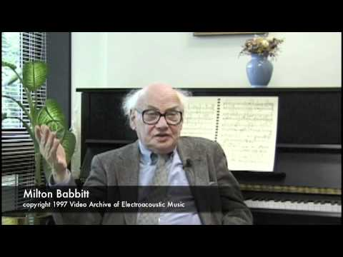 Milton Babbitt  on Electronic Music Music Videos