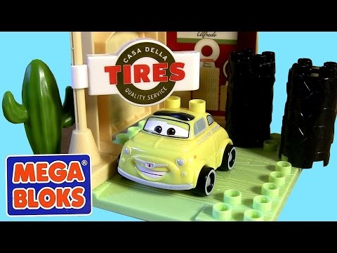 Mega Bloks Cars Luigi's Garage Casa Della Tires 7788 Building Toys Disney Pixar by Blucollection