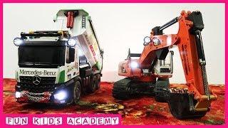Bruder Toys - Modified CAT 320D RC Excavator LED - Videos for Children