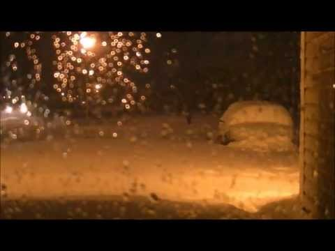 May 1-2, 2013 snowfall timelapse, Owatonna, MN