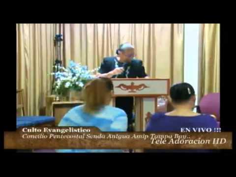 Culto Evangelistico Concilio Pentecostal Senda Antigua Amip Tampa Bay. 08-09-2015