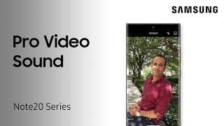 Use Pro Video settings to switch between mics when shooting videos on One UI3 or later | Samsung US