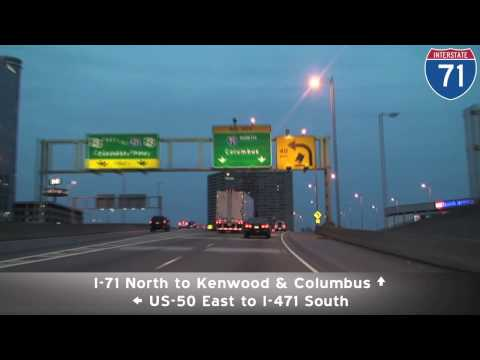 I-71 at Night: Cincinnati, OH