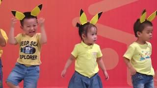 Vận động theo nhạc Pikachu - Lớp Bunny
