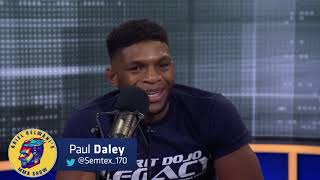 Paul Daley at Ariel Helwani's MMA show before his fight with MVP