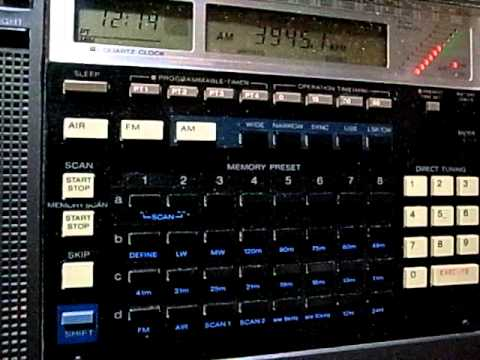 3945kHz Radio Vanuatu Closing & National Anthem : Sony ICF-2010 (ICF-2001D)