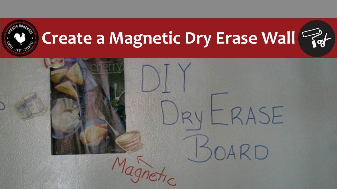How To Create A Magnetic Dry Erase Wall With Rustoleum Paint Youtube