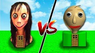 CASA MOMO vs CASA BALDIS NO MINECRAFT !!