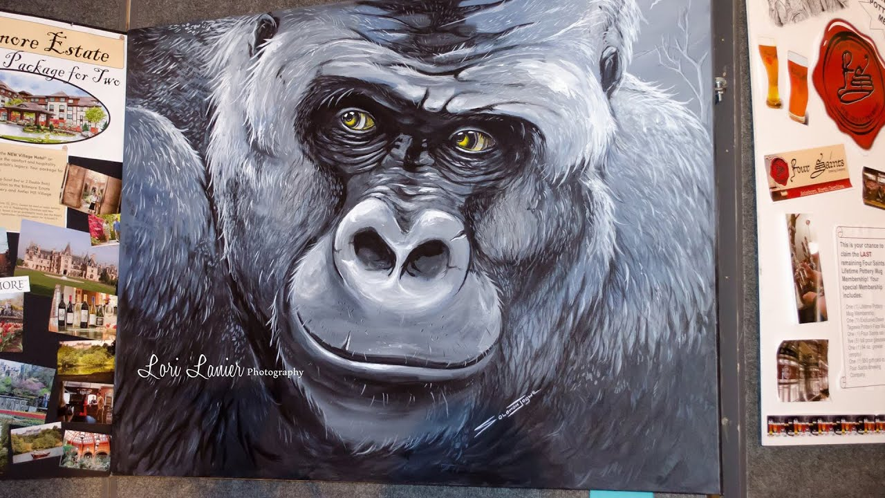 Koko the gorilla painting