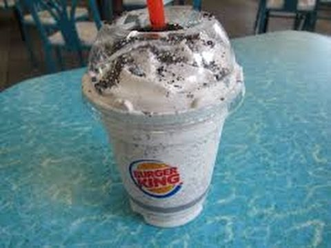 New Burger King Oreo Shake Youtube