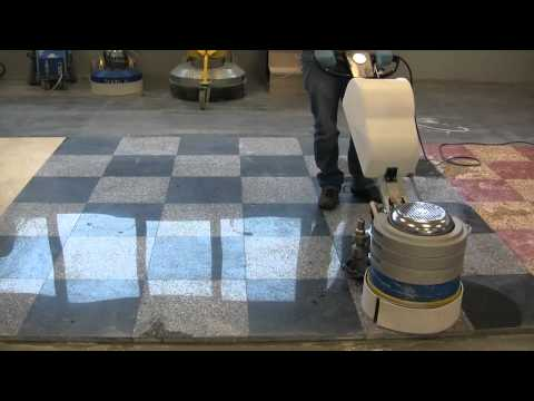 Granite floors grinding and polishing with Klindex Levighetor
