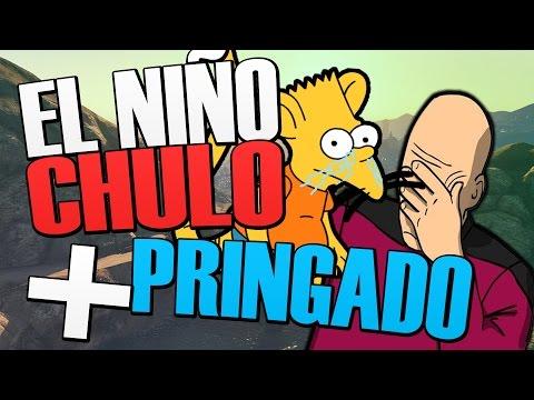 EL NIÑO CHULO MÁS PRINGADO DEL GTA V, VIENE LA MADRE A METERLE LA BRONCA   TROLLEANDO EN GTA V #119