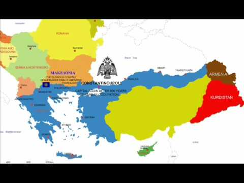 karta europe 2030 Balkan Map 2030: Megali Idea (Comments not in Greek or English  karta europe 2030
