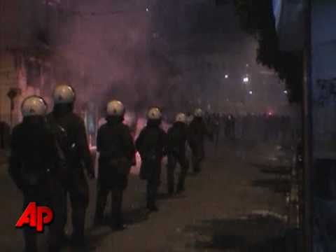 Raw Video: Massive Riots Cripple Greece s Cities