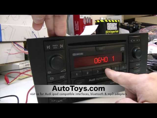 How to Unlock Audi Radio Code , READ SAFE MODE ... - YouTube
