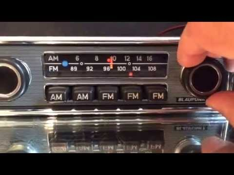 Chromelondon.com BLAUPUNKT FRANKFURT US AM FM CHROME/PINSTRIPE VINTAGE RADIO WITH MP3 and  WARRANTY