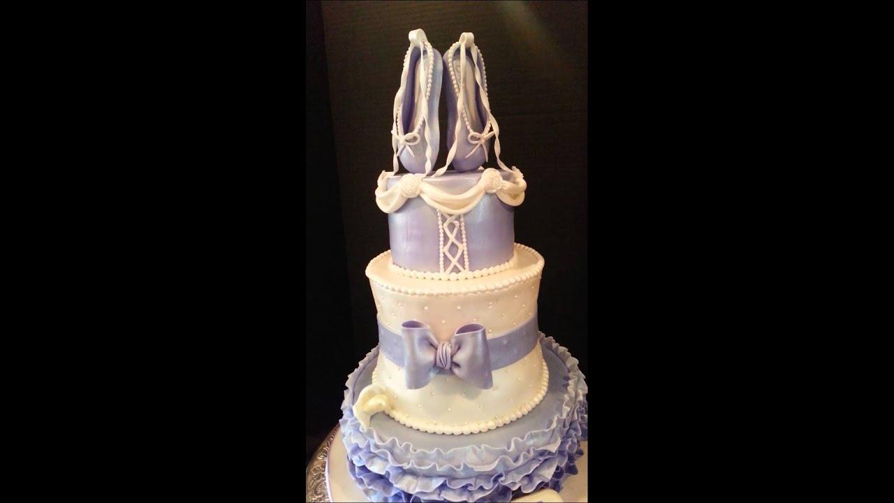 ballerina themed baby shower cake youtube