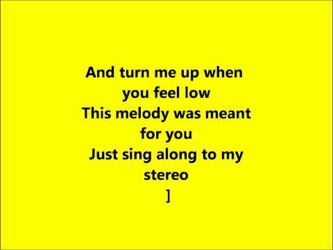 My Hearts A Stereo Lyrics video