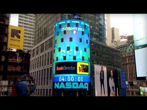 Bank Director Rings The NASDAQ Stock Market Closing Bell