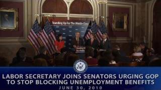 Labor Secretary Joins Senators Urging GOP to Stop Blocking Unemployment Benefits