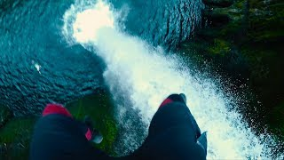 MASSIVE CLIFF JUMP OFF REMOTE WATERFALL | FIRST  DESCENT (4K)