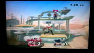 Super smash bros brawl Mario vs Ike