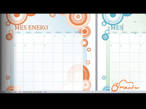 Tutorial Word - Creación de Calendarios