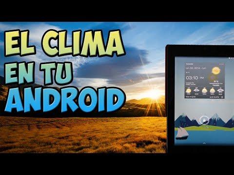 MEJOR aplicacion del TIEMPO / CLIMA para Android / Mejor widget del tiempo