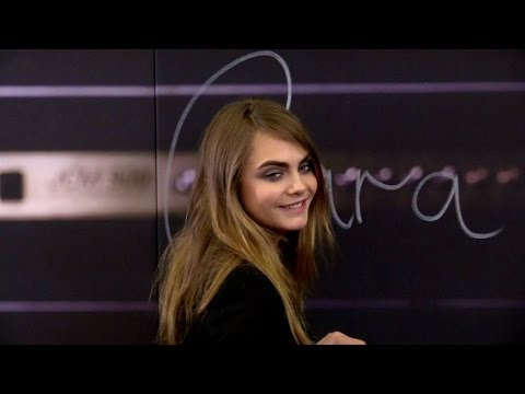 Cara Delevingne at special Yves Saint Laurent event at Galeries Lafayette in Paris
