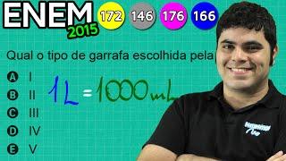 ENEM 2015 Matemática #31 - Multiplicação e Conversão de Mililitro para Litro
