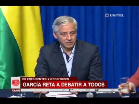 VIDEO: GARCÍA LINERA AFIRMA QUE PUEDE DEBATIR CON TODOS LOS LÍDERES OPOSITORES