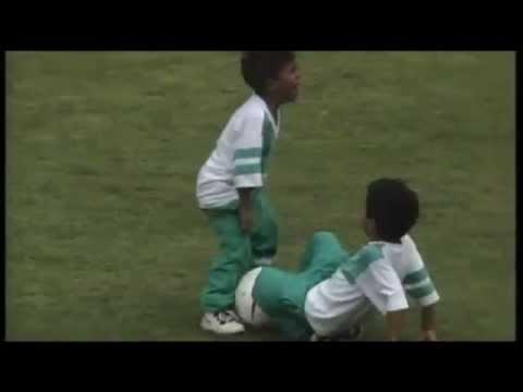 Thiago y Rafinha ya eran unos cracks de pequeños