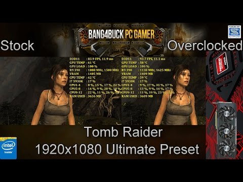 AMD Sapphire R9 390 Nitro Stock Vs Overclocked 1080p Performance   i7 5930K @4.5GHz