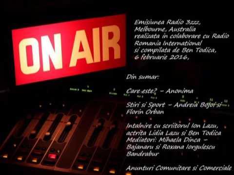 Emisiunea Radio 3zzz, Melbourne, Australia, 6 februarie 2016