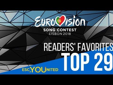 Eurovision 2018 Top 29 | Readers' Favorites so far