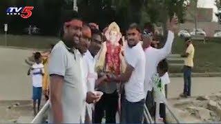 Ganesh Immersion Grand Celebrations by Telugu NRIs in Pittsburgh, USA