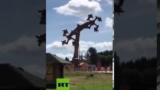 You better believe your eyes: German amusement park's 'swirling swastikas' ride shut down