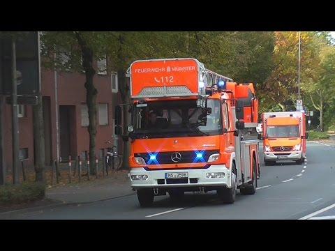 Geteilter Löschzug der Berufsfeuerwehr Münster Fw 1