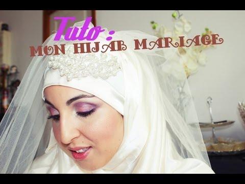 ❀ DIY ❀  : le hijab de mon mariage  my wedding hijab