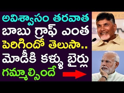 Babu Graph Raised Very Fast After No Confidence Motion ! Modi Is In Shock !! ||  Taja30