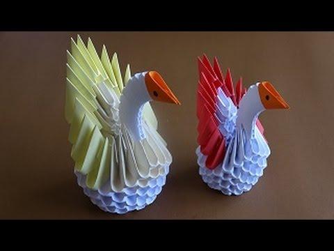 Mini, Origami Kuğu Yapımı - En Kolay Kuğu - DIY Mini Origami Swan